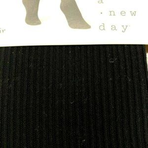 A New Day Womens Ribbed Sweater Tights Black U-029